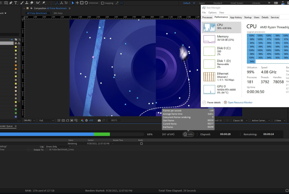 Lựa chọn phần cứng cho Adobe After Effects Multi-Frame Rendering (MFR)